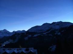 ... ... ...bOnsOir... (project:2501) Tags: wengen jungfrauregion suisse switzerland snow ski travel hotel hotelbelvédère hotelroom artnouveau 1912 view aroomwithaview balcony theviewfromhere evening dusk twilight bluelight blue bluebleu bleu sunset inthemountains mountains mountain rock pinetrees alpinefauna breithorn3782m tschingelhorn3557m gspaltenhorn3437m stellifluh2232m mürren1634m