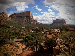 Bell Rock and Courthouse Butte - Sedona Arizona (Michael Dean Shelton Photography) Tags: valley travel arizona desert sedona southwest butte courthousebutte sky scenic rock remote outdoors no person nature mountain landscape canyon arid panoramic geology photography physicalgeography michaeldeanshelton