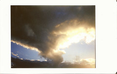 Tornado (Lux Obscura) Tags: clouds storm golden light sunset instant film instax 90 fujifilm sky badweather singleexposure noedit spring nature