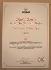 David Bowie - Collectors Eolder - Certificate (Darren...) Tags: