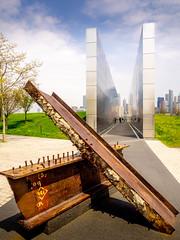 Empty Sky (Explored) (Geoff Eccles) Tags: 911memorial newjersey emptysky libertystatepark steelwork