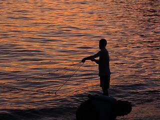 The Sunset Fisherman