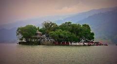"NEPAL, In Pokhara, Schlechtes Wetter am Phewa See, Insel mit ""Taal Barahi Tempel, 16060/8323 (roba66) Tags: phewalakefewalake lakesee taal barahi temple insel isle tempel island taalbrahitempel reisen travel explore voyages roba66 visit urlaub nepal asien asia südasien pokhara landschaft landscape paisaje nature natur naturalezza water wasser"