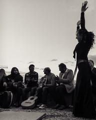 Impromptu Flamenco (Julien Lagarde) Tags: bw andalousie andalucia bailaora blackandwhite blancoynegro dance danse flamenco gitana gitane granada gypsy nb noiretblanc andalucía spain es