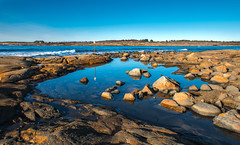 Blue Water (bjorbrei) Tags: sea water pond coast shore rock rocks stones waves brattestø viker asmaløy hvaler oslo