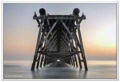 Head on (Lynne J Photography) Tags: pier sunrise pastel long exposure beach rapeseed dusk sunset chemicalbeach seaham wheels sand steetley dawn colors rocks sidelight