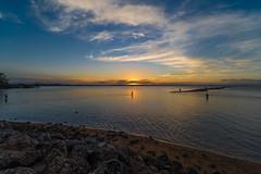 Wellington Point Sunset (Erdel) Tags: wellingtonpoint water shoreline waterloobay sunset dusk pentax k1 irixfirefly 15mm ocean seaside lota erobin stradbrokeisland straddie