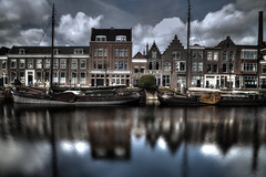 Delfshaven Long Exposure (Rik Tiggelhoven Travel Photography) Tags: delfshaven historic historisch reflection reflectie rotterdam holland nederland netherlands city cityscape port haven water europe europa boat building architecture longexposure long exposure fader ndfilter nd filter neutral density canon 6d fullframe ef24105mmf4lisusm rik tiggelhoven travel photography hdr schellings oliehandel oil trade