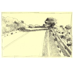 Road Sketch 06. Pencil on paper. #sketchbook #road #drawing #landscape #nature #tree