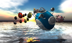 22769 Hoverpods for The Gacha Guardians : April 2017 (manuel ormidale) Tags: sciencefiction fun riding vehicle chopper roller 22769 22769~bauwerk pacopooley thegachaguardians gacha gachaevent gachagame scifi machine hover hoverpod rideableslvehicle