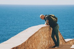 Thoughts (ilariapani) Tags: thoughts pensieri riflessioni grottedinettuno alghero grotte steps gradini sky cielo sun sole sea mare water acqua man boy portrait ritratto ritrattoambientato