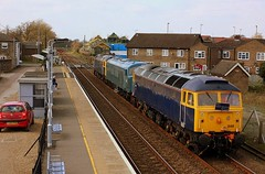 Sulzer Triple header at Brandon (Chris Baines) Tags: rog 47848 47812 class 46 d182 brandon suffolk