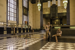 inside Omaha Union Station ~ Durham Museum. A nice place to visit as you can see from our servicemen here. (TAC.Photography) Tags: omahaunionstation durhammuseum sculptures traindepot history historic