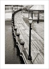 Board Walk (DJ Wolfman) Tags: boardwalk walk river light lansing lansingmi grandriver blackandwhite bw sony rx10 walkway