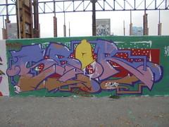 164 (en-ri) Tags: sbor zens arrow giallo lilla rosa parco dora verde rosso 17 wall muro graffiti writing torino 2017