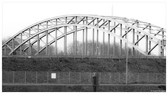 Duisburg harbour (frankdorgathen) Tags: overexposed grass steel outdoor ruhrgebiet duisburg harbour hafen monochrome blackandwhite industry bridge