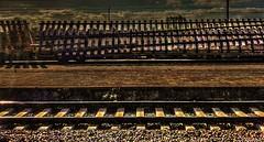 Aiguillage au lever du soleil (misterblue66) Tags: aiguillage leverdesoleil matin gare rail brainelecomte sgravenbrakkel huawei photomatix p8 hdr quai perron