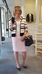 In the pink (krislagreen) Tags: tg tgirl transgender transvestite cd crossdress xdress skirt jacket highheels pumps patent pink black pencilskirt femme feminized feminization
