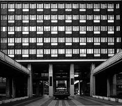 (t*tomorrow) Tags: panasonic lumix gx8 14mm monochrome architecture 建築 白黒 岡山