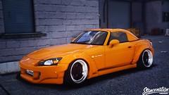 Grand Theft Auto V (TheFaNTaS11) Tags: honda s2000 s2k stanced stancenation cambergang orange california losangeles stance cars car libertywalk rocketbunny rocket bunny liberty walk pandem racecar low