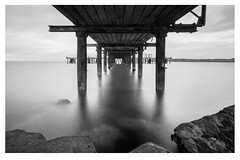 Pier Border (corinna.nolan) Tags: arklow pier long exposure peace sea rocks wide angle big stopper