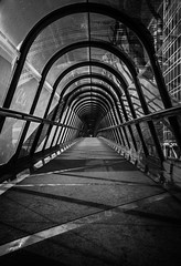 Tube 214 (tyepaprocki) Tags: tunnel tube défense noir white blanc black graphique passage verre