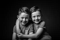 cheeky twins (steptoe1972) Tags: twins twinboys blackandwhite mono monochrome 6d canon6d cheeky cute studio lencarta