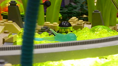 HELP!!!!!!! (Brett-Tron) Tags: blacktron monorail moc lego alien flower landscape spaceflowers spaceweeds spacelandscape alienworld spaceplants mtron battle