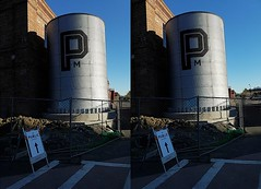 Emeryville, CA (pinelife) Tags: 3d stereogram stereo crosseye california emeryville tower publicmarket