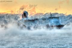 Mariella @ Port of helsinki (___pete___) Tags: mariella vikingline finland winter sea sunrise port helsinki katajanokka steam stockholm