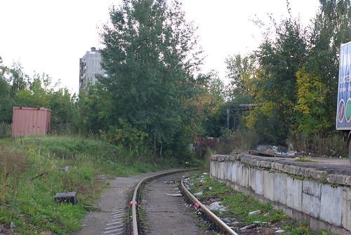 RZD Lobnya access track Лобненский завод строительного фарфора
