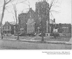 Third Reformed  Church and rectory  Ten Eyck ave,  1908  albany ny (albany group archive) Tags: early 1900s