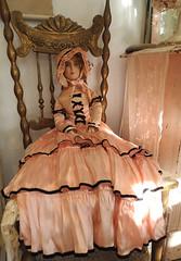Beautiful Antique French Boudoir Bed Doll (Tamara Tarasiewicz) Tags: tamaratarasiewiczmuseum bialowieza polska polskiemuzeumlalek frenchboudoirdoll antique 1920s francuskalalka stara lala lalka