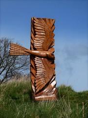 Hawk (Martellotower) Tags: steve iredale wood danby moors centre sculpture chain saw hawk
