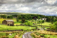Ravenstonedale In Yorkshire Dales (Paul Thompson Photography) Tags: ravenstonedale yorkshire dales walls drystone dramatic landscape england uk gb paulthompson photography photomatix photographer stunning green road backroad single track stone