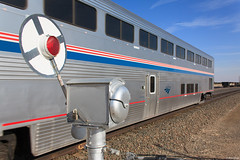 Protecting the Crossing (bkays1381) Tags: amtrak southwestchief colorado bnsfratonsubdivision delhicolorado magneticflagman superliner