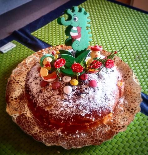 La tarta de Sant Jordi que s'ha empescat la Liliana