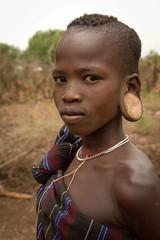 Mursi Girl (Rod Waddington) Tags: africa african afrique afrika äthiopien ethiopia ethiopian ethnic etiopia ethnicity ethiopie etiopian omo omovalley outdoor mago mursi tribe traditional tribal culture cultural child girl beads portrait people