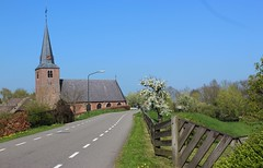 Wijk en Aalburg:  Dutch Reformed Church 14th century (♥ Corry ♥) Tags: church reformed netherlands landscape sky trees street history architecture building religious dutch canon
