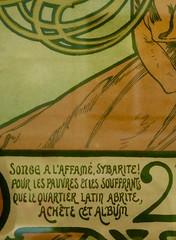petite chronique d'une campagne présidentielle (17) (canecrabe) Tags: alfonsmucha affiche quartierlatin sybarite pauvre affamé don