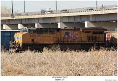 UP ES44AC 7475 (Robert W. Thomson) Tags: up unionpacific ge diesel locomotive sixaxle gevo evolutionseries es44 es44ac c45accte train trains trainengine railroad railway ogden utah