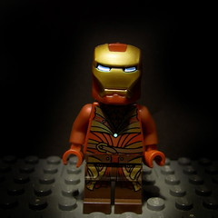 Iron Man- Mark XXXVI (Version 2) (Automaton Pictures) Tags: red man toy iron lego arm mark lord tony suit elf rings armor minifig stark productions elves automaton elven lorien minifigure haldir lothlorien xxxvi ultron32