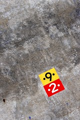 92 (Fabian Gruber) Tags: bridge red 2 two detail rot sign yellow wall concrete pier motorway hiking wand details nine pillar 9 autobahn trail gelb brcke 92 zwei stilt beton colum wanderweg pfeiler wegweiser neumarkt sule sttze neun talbrcke pilsach opberfalz