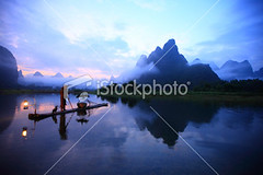Lijiang-fishermen (MPBHAIBO) Tags: china morning cloud mist mountain reflection water fog sunrise river landscape dawn liriver fishing fisherman asia dusk guilin yangshuo hill cormorant    cloudscape stormcloud  chineseculture   xingping ruralscene fishingindustry    karstformation chineseethnicity woodenraft  guangxiregion