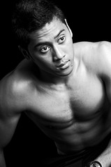 Hazwan (!'jonahan'!) Tags: portrait man male men fashion studio asian model lowlight indoor explore malaysia malaysian casualwear malay singlet