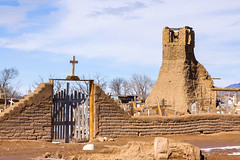 Cemetery of Taos (Michael Deleon Photo) Tags: newmexico cemetery architecture buildings ruins unitedstates fences historic nativeamerican adobe taos placesofworship taospueblo