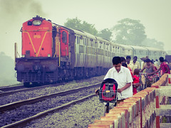 Daily life... (Sougata2013) Tags: train rail railway bengal westbengal sainthia