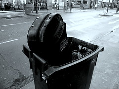Gutar case in bin Charing Cross Road London England 15th June 2013  15-06-2013 17-11-059 (dennoir) Tags: