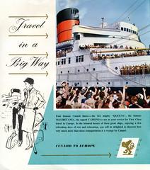 Cunard Cruises (jericl cat) Tags: voyage travel cruise english classic illustration vintage way paper big europe sailing moderne ephemera queenmary artdeco brochure cunard transatlantic cruises streamline queenelizabeth mauretania caronia