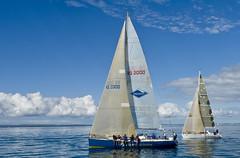 Sailing (perkygp64) Tags: ocean blue sea people water sport canon lens boat nikon sailing pentax sony australia queensland sail tamron